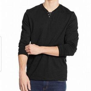 Alfani split neck cotton blends long sleeve shirt